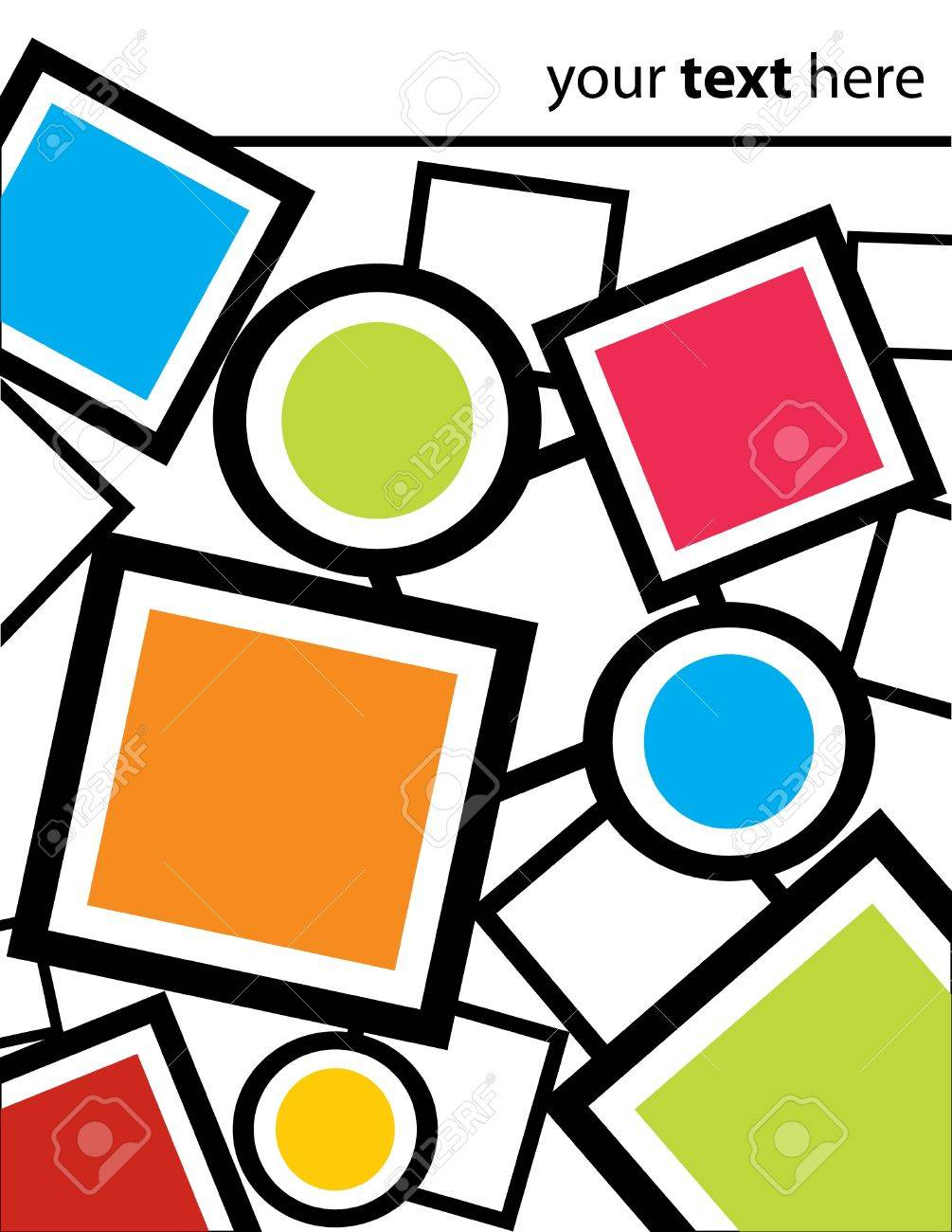Squares, Circles, and Frames Background Stock Vector - 14555647