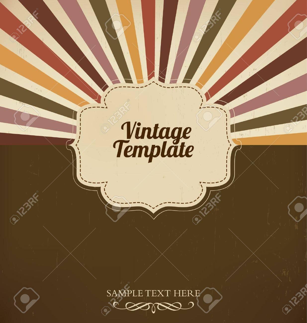Vintage template with retro sun burst background Stock Vector - 14553626