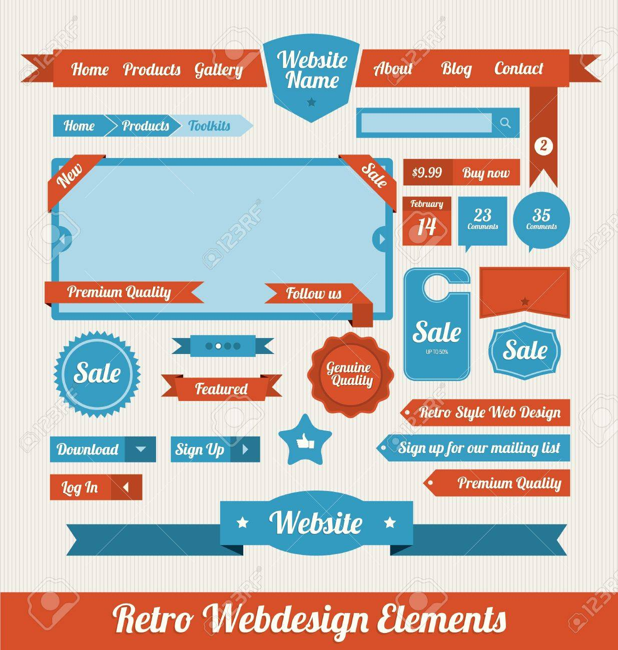 Web Design Elements Stock Vector - 14553618