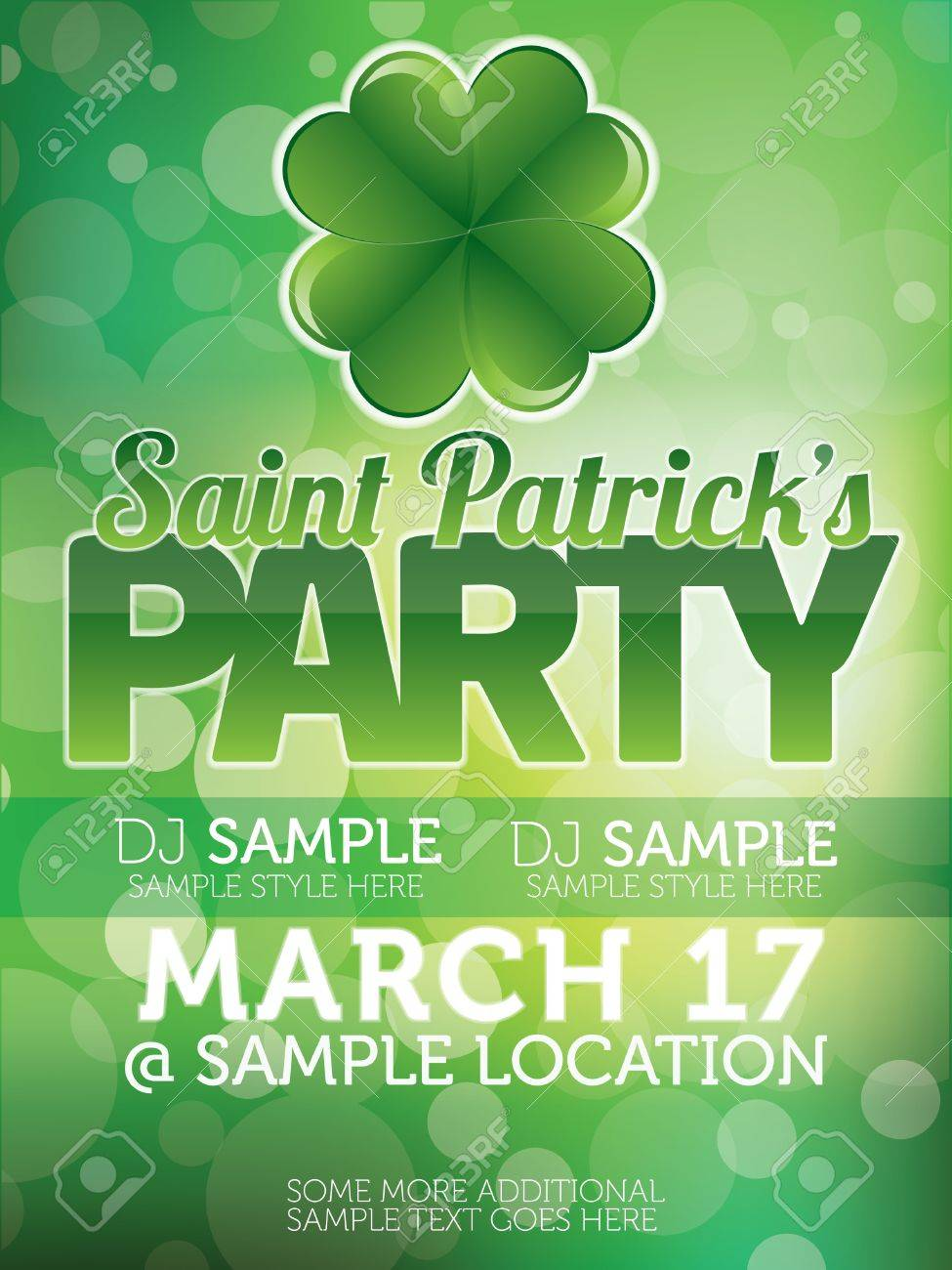 Saint Patricks Day Party Poster Stock Vector - 14576561