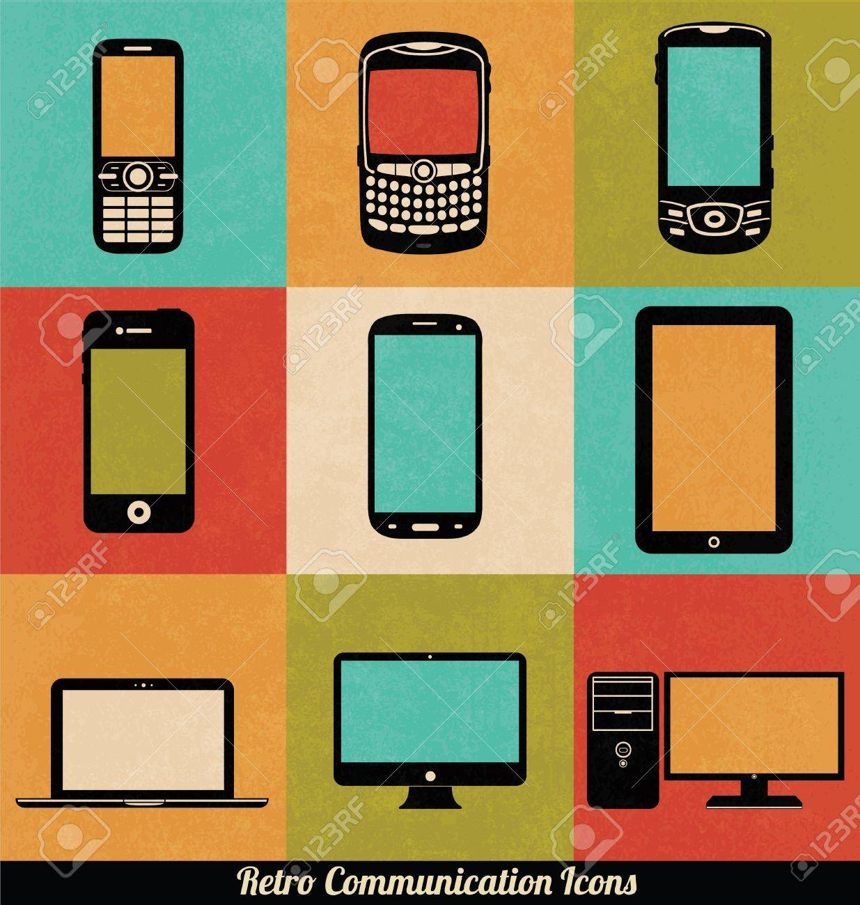 Retro Communication Icons - 15793418