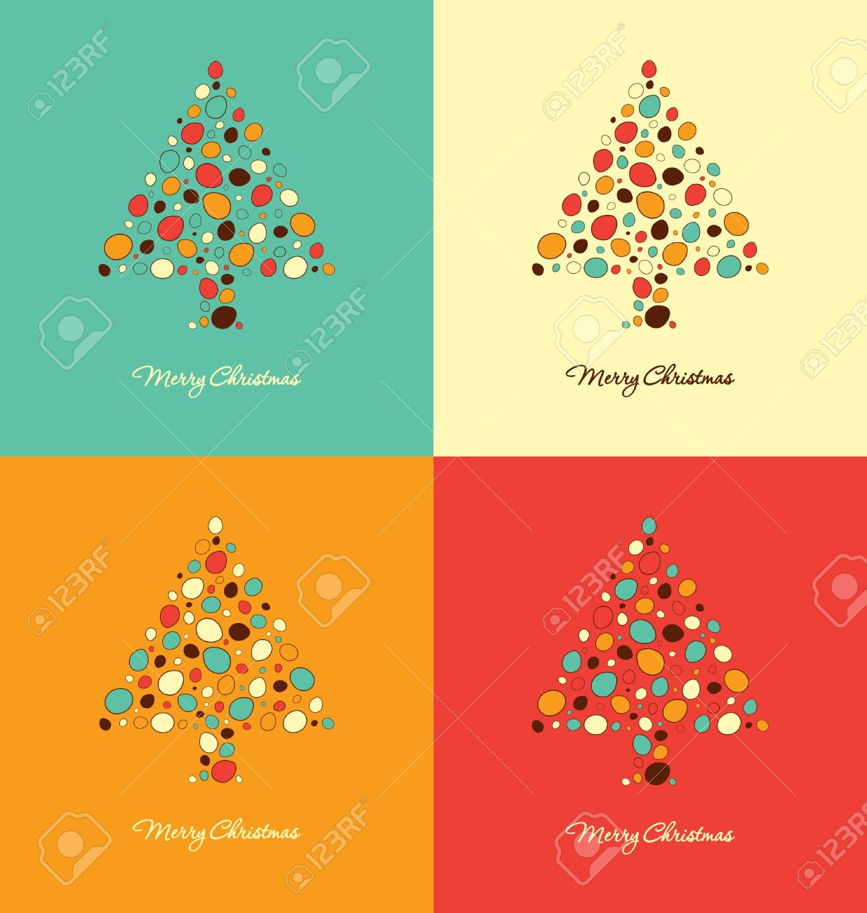 Christmas Card Design Templates Stock Vector   16541408