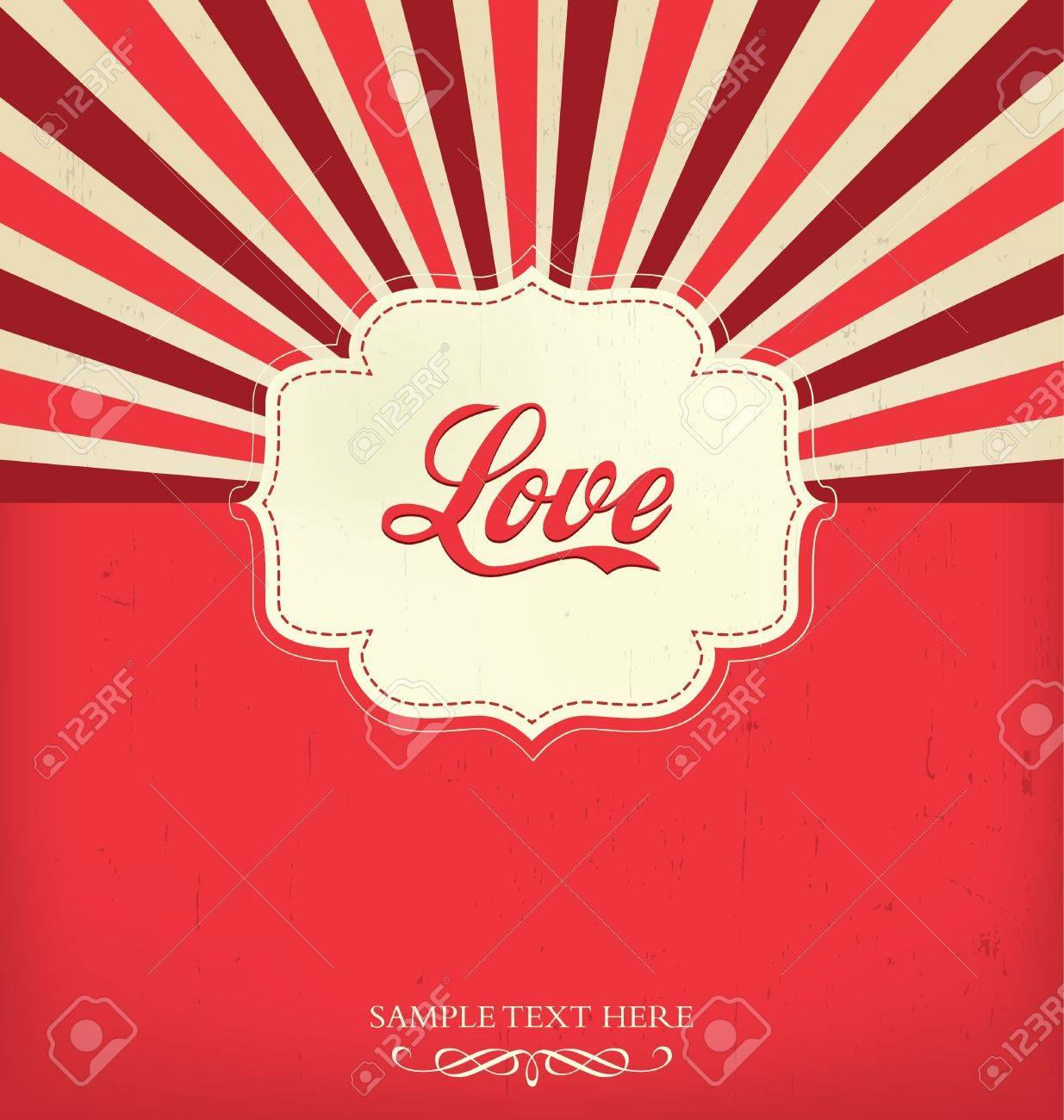 Love - Valentines Design Template Stock Vector - 16902151