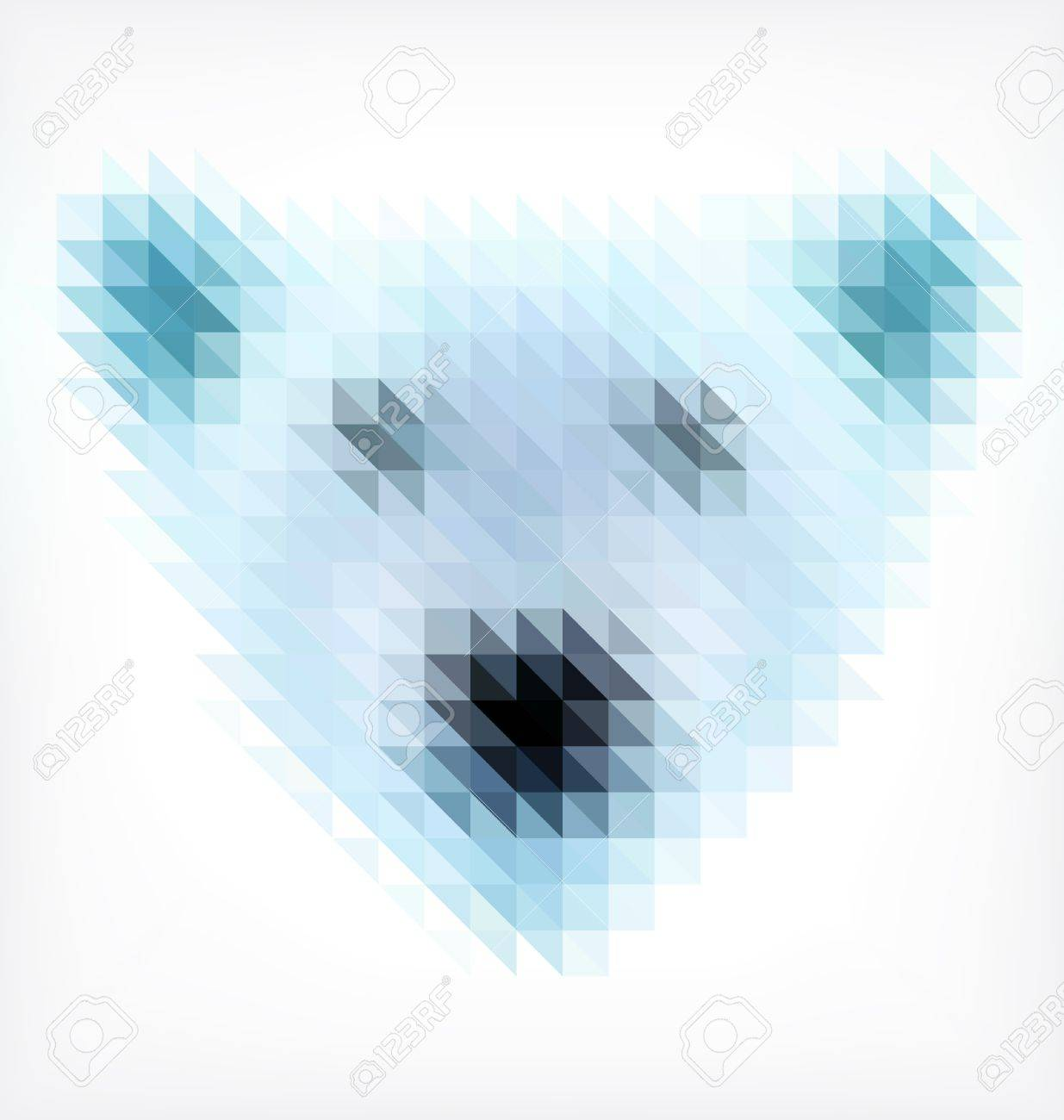 Bear Portrait Made of Small Triangles Stock Vector - 18634082