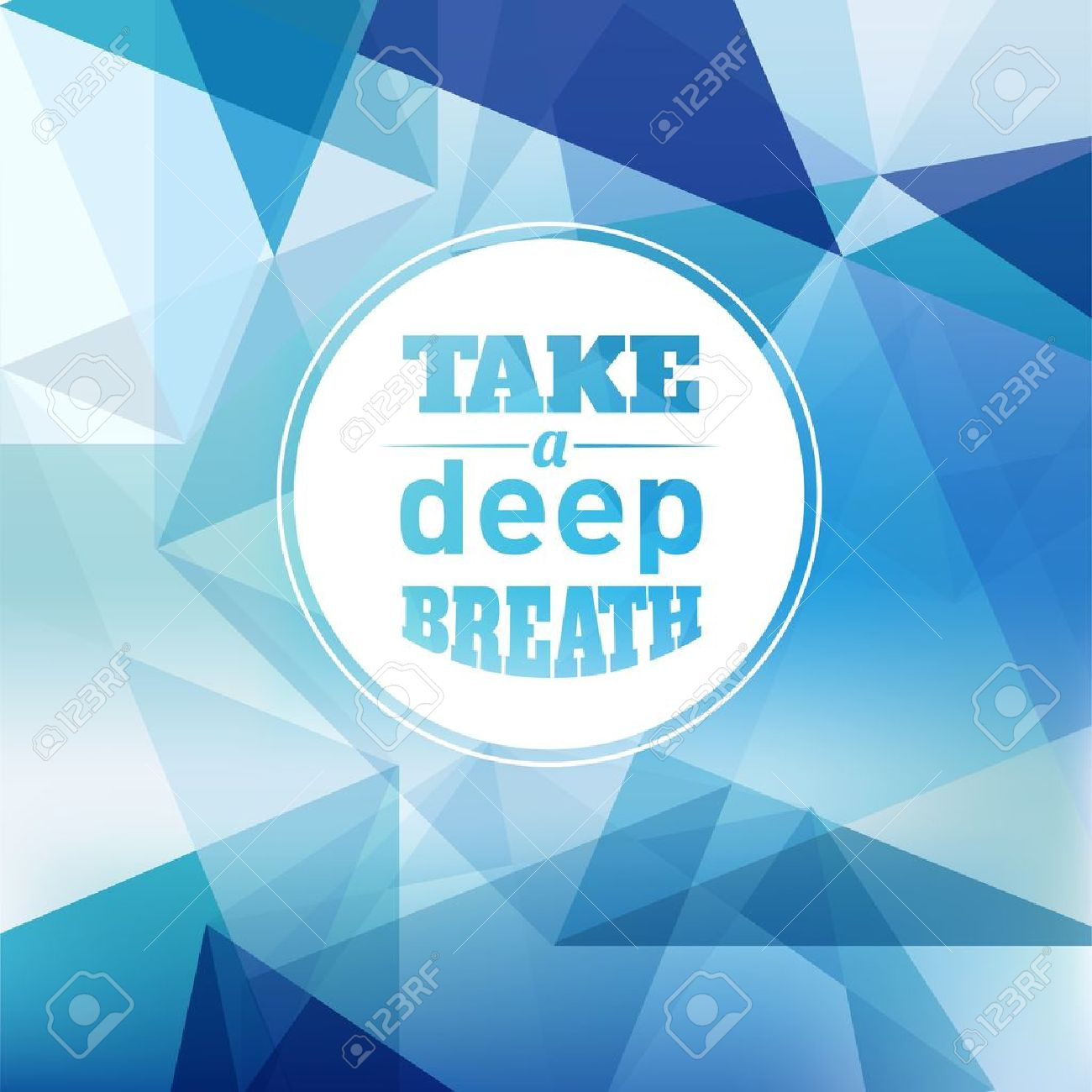 Take a Deep Breath - Design Layout Stock Vector - 20893558