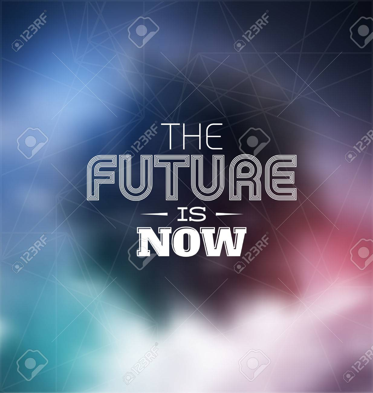 Typographic Poster Design - The future is now - 24939394