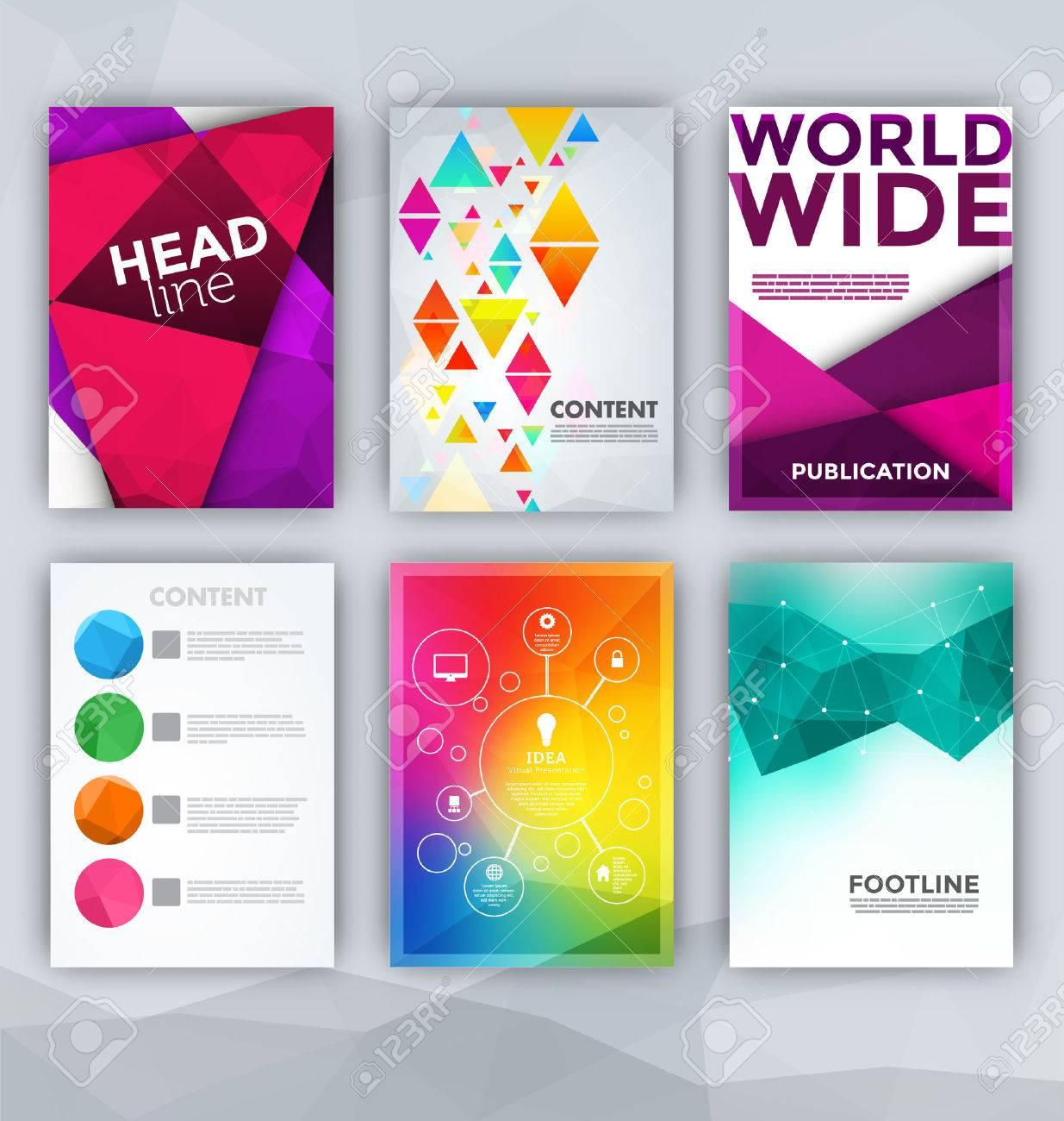 Flyer Sets - Abstract Backgrounds - Presentation Template - Brochure Print Design Elements - 35893245