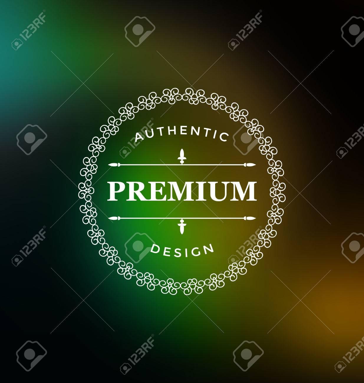 8689b4e7a15e Banque d images - Calligraphique de conception d étiquettes Modèle -  Classique Style ornemental. Cadre élégant et de la typographie sur fond  coloré - logo ...