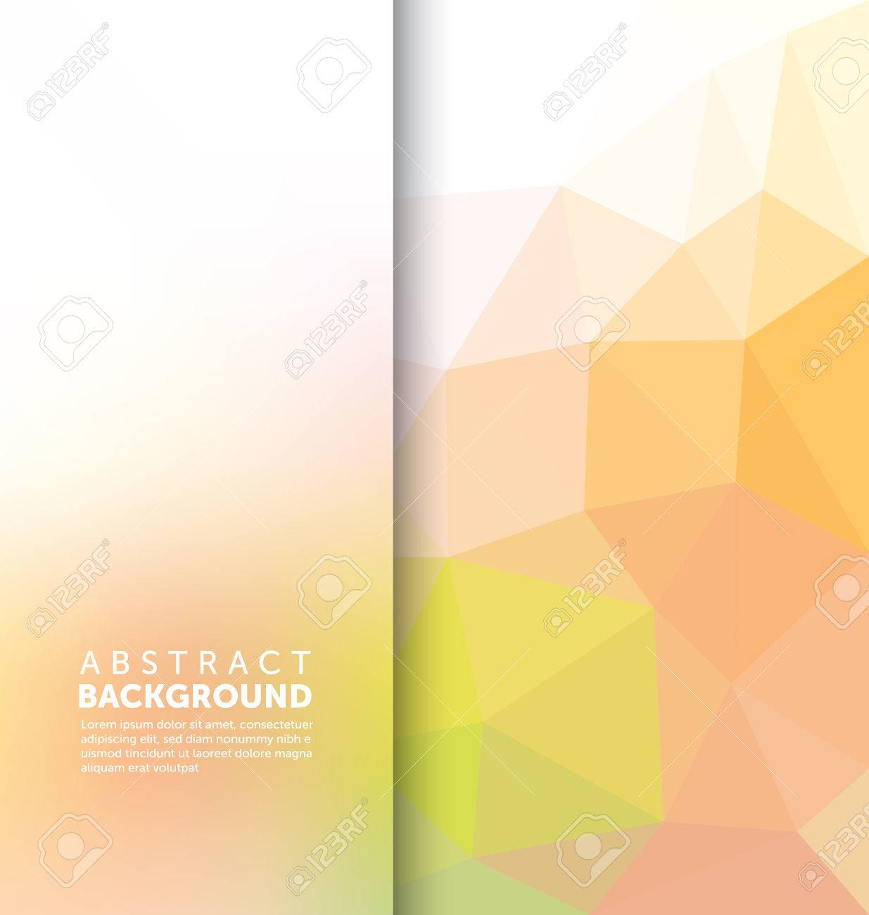 Abstract Background - Triangle and blurred banner design - 45557584
