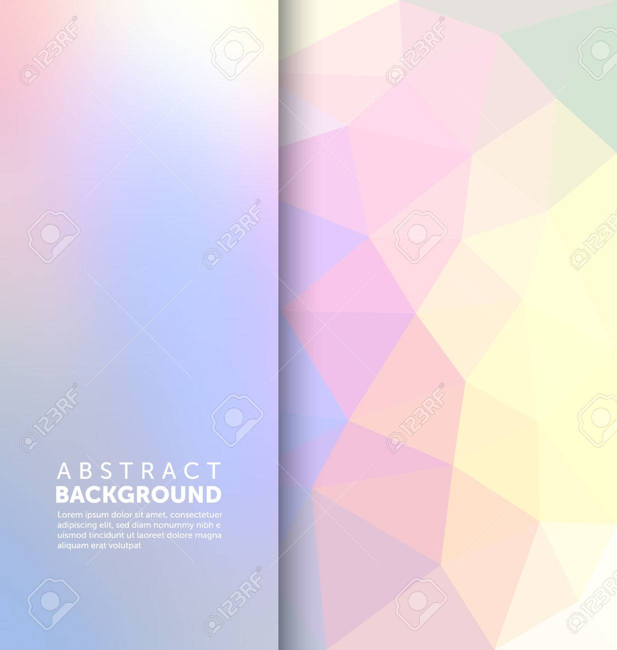 Abstract Background - Triangle and blurred banner design - 45168346