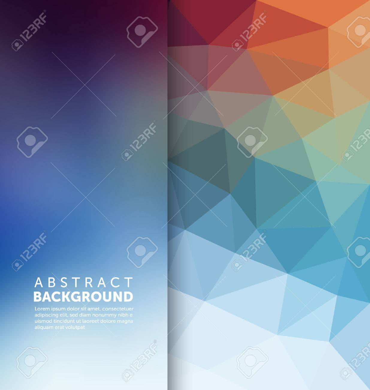 Abstract Background - Triangle and blurred banner design - 45168349