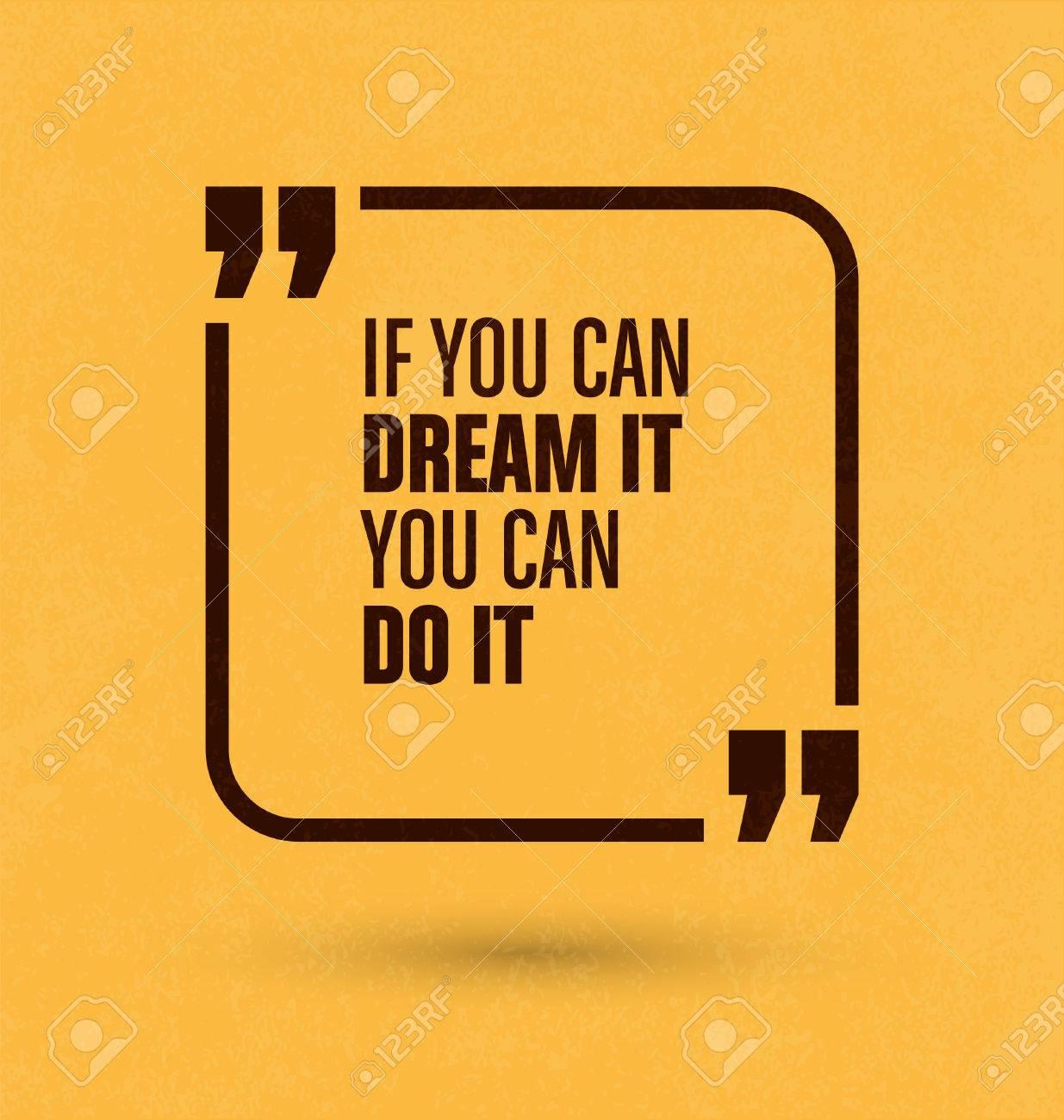 Cita Enmarcado En El Fondo Amarillo - Si Puedes Soñarlo Puedes ...