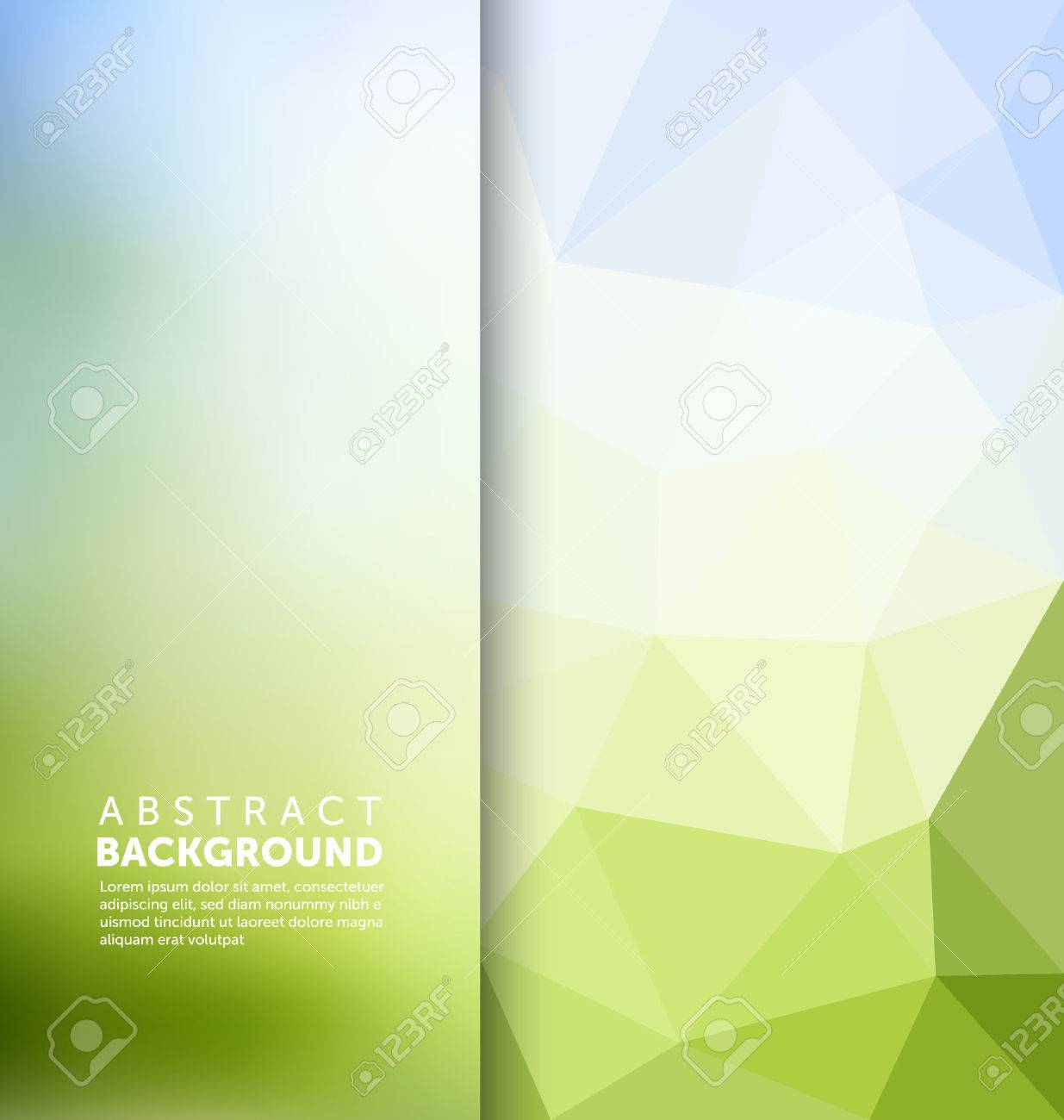 Abstract Background - Triangle and blurred banner design - 45168401