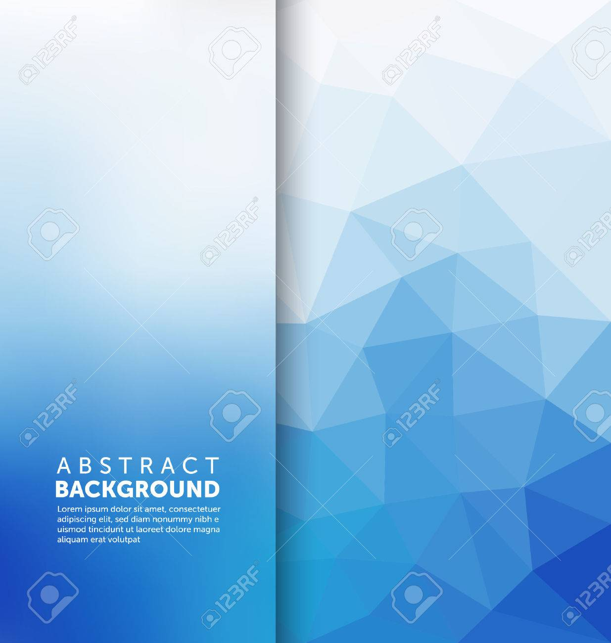 Abstract Background - Triangle and blurred banner design - 45168409