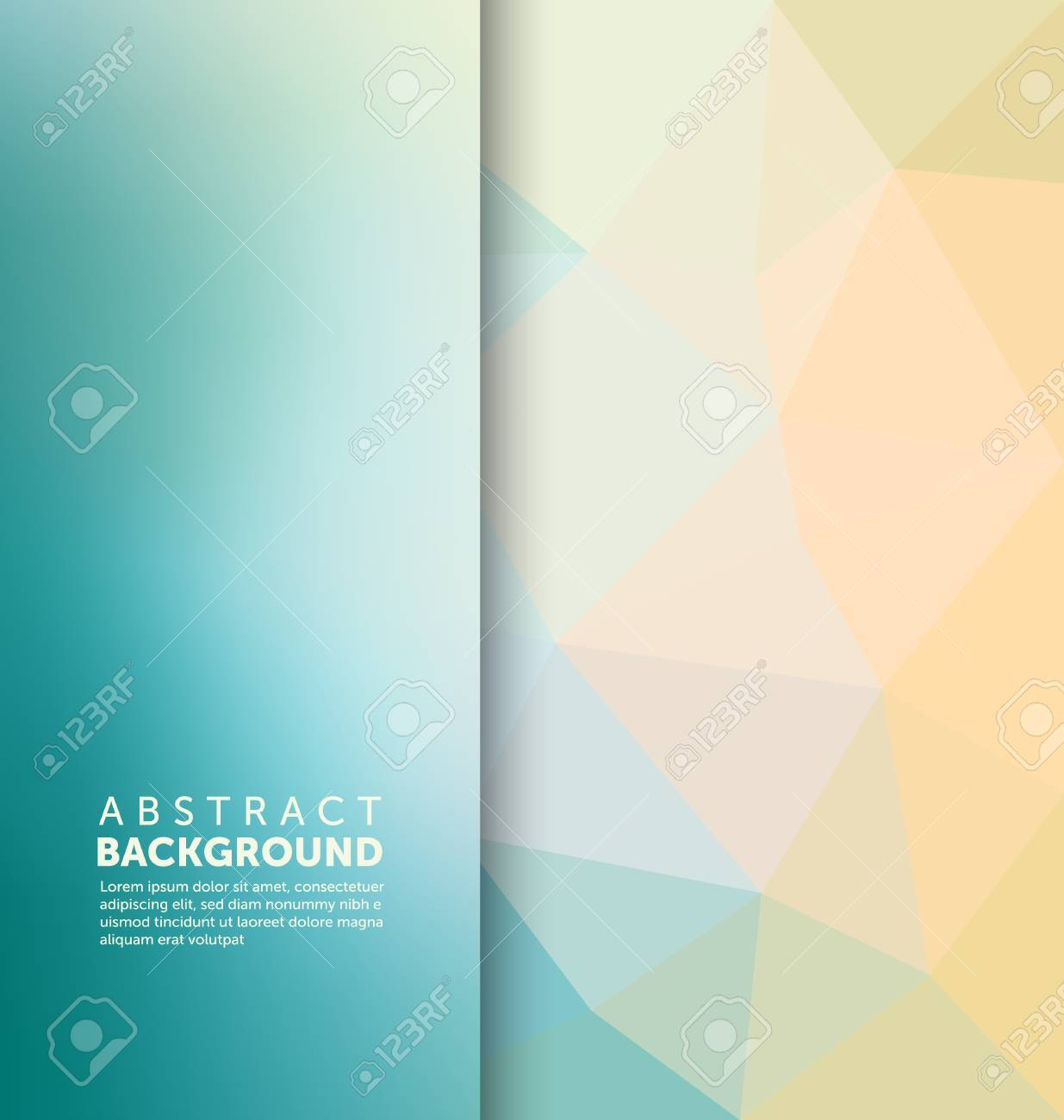 Abstract Background - Triangle and blurred banner design - 45168472