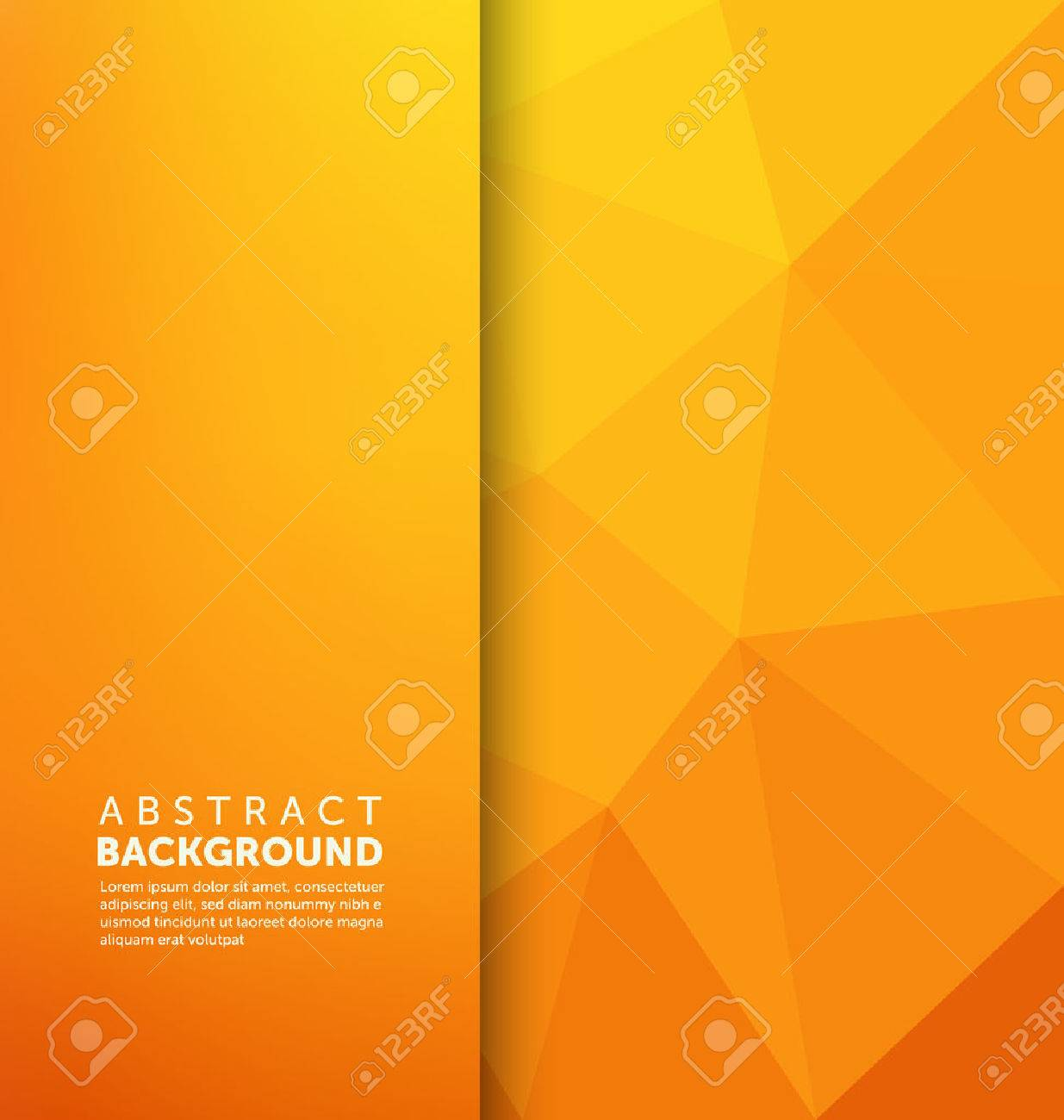 Abstract Background - Triangle and blurred banner design - 45168473