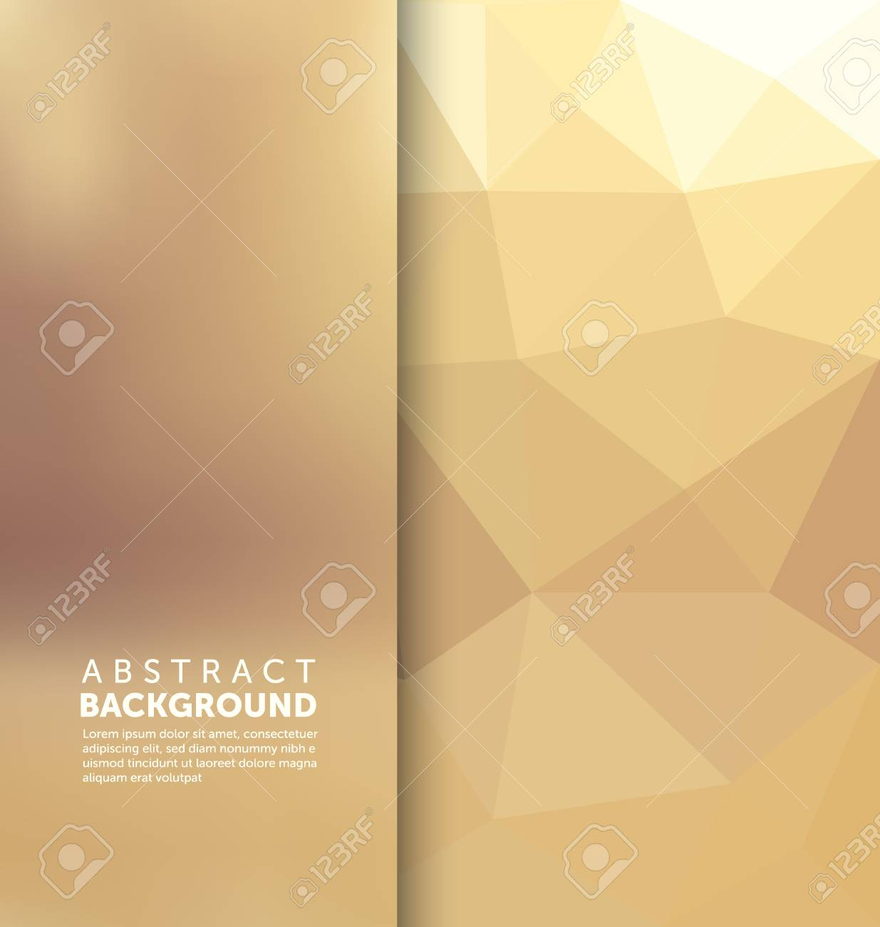 Abstract Background - Triangle and blurred banner design - 45168483