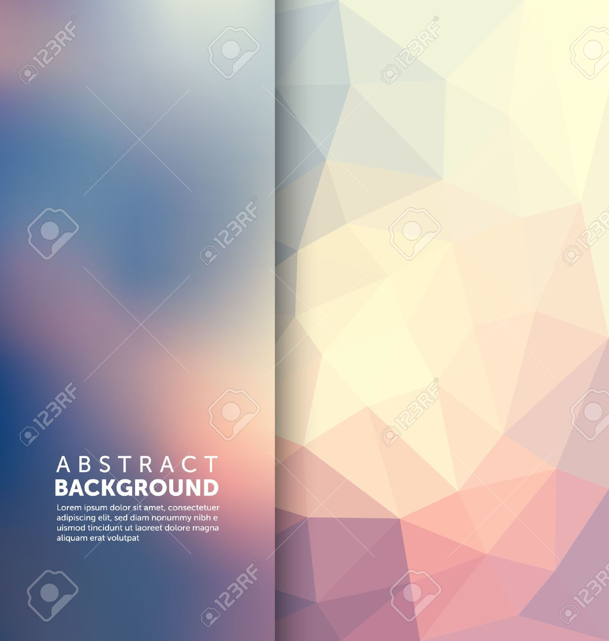 Abstract Background - Triangle and blurred banner design - 45168488