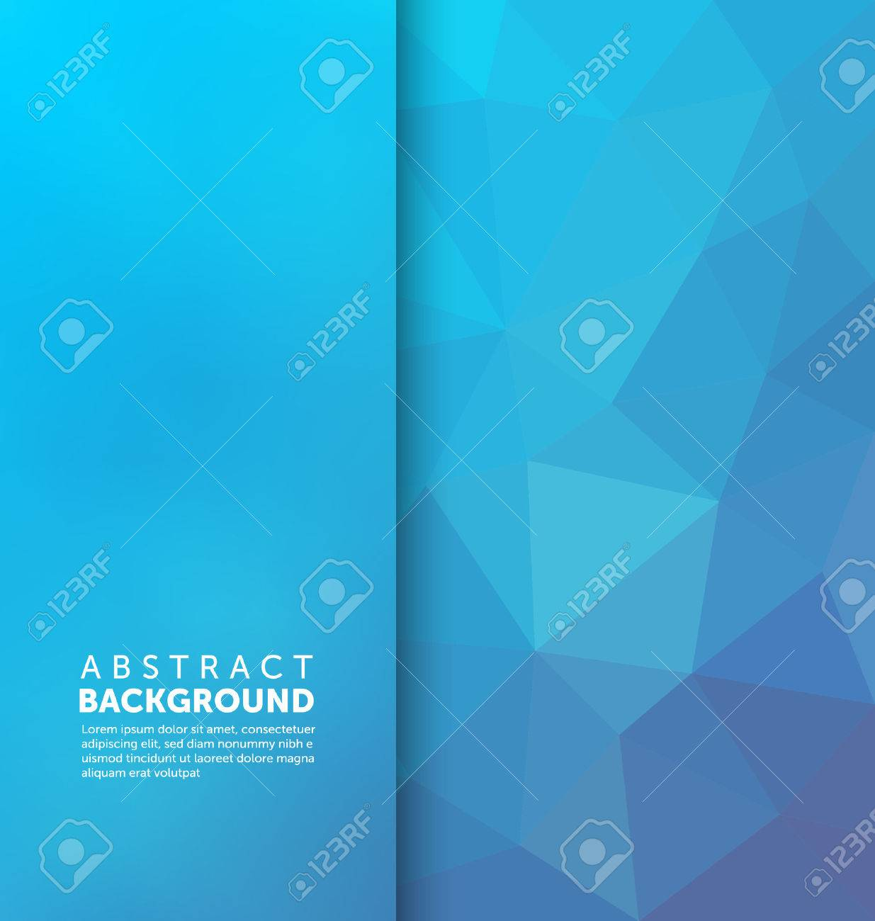 Abstract Background - Triangle and blurred banner design - 45168538