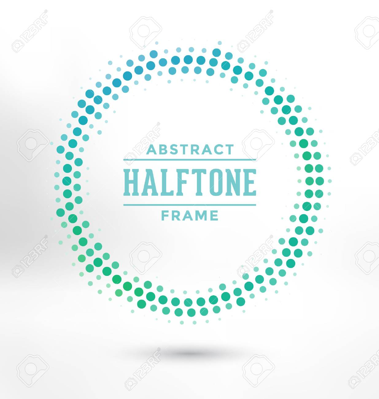 Abstract Halftone Circle Frame - Colorful Design - 45168592