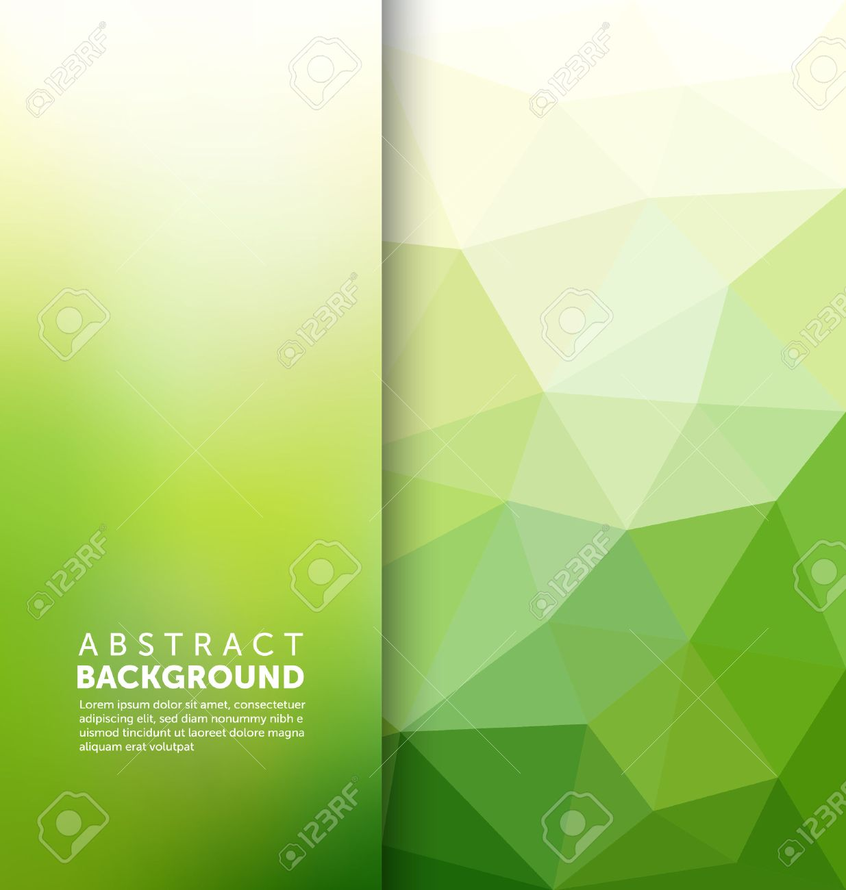 Abstract Background - Triangle and blurred banner design - 45168599