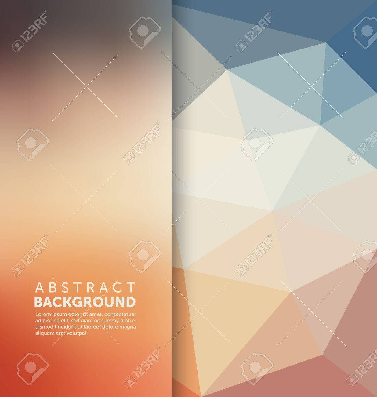 Abstract Background - Triangle and blurred banner design - 45168628