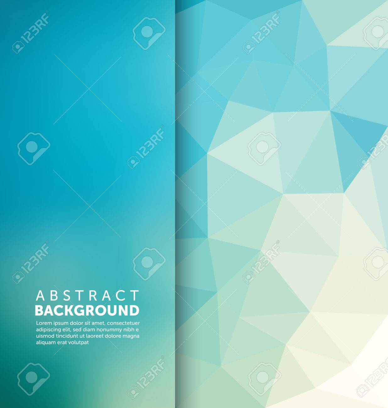 Abstract Background - Triangle and blurred banner design - 45168687