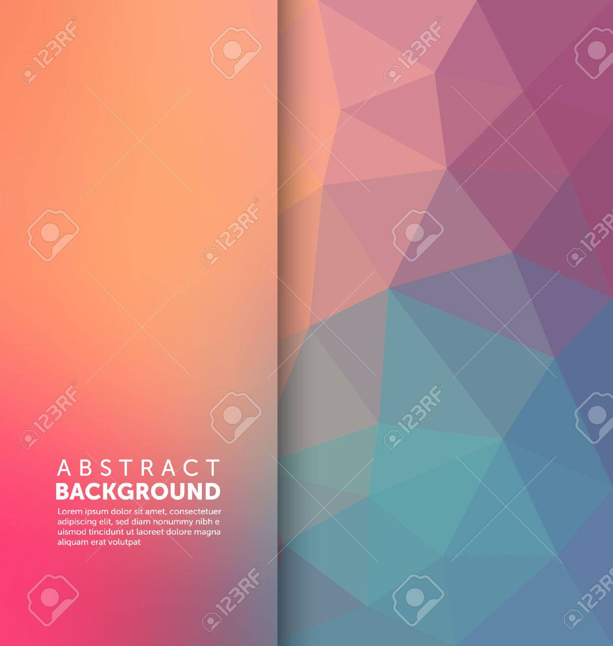 Abstract Background - Triangle and blurred banner design - 45168697