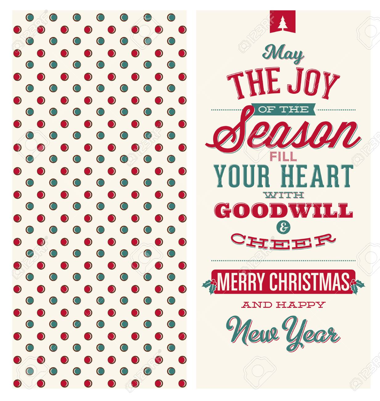 Christmas Card Design - Typographic Greeting - May The Joy Of ...