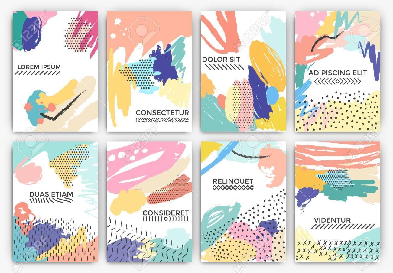 dibujadas a mano diseos de fondo artstico utilizables para la invitacin de boda aniversario