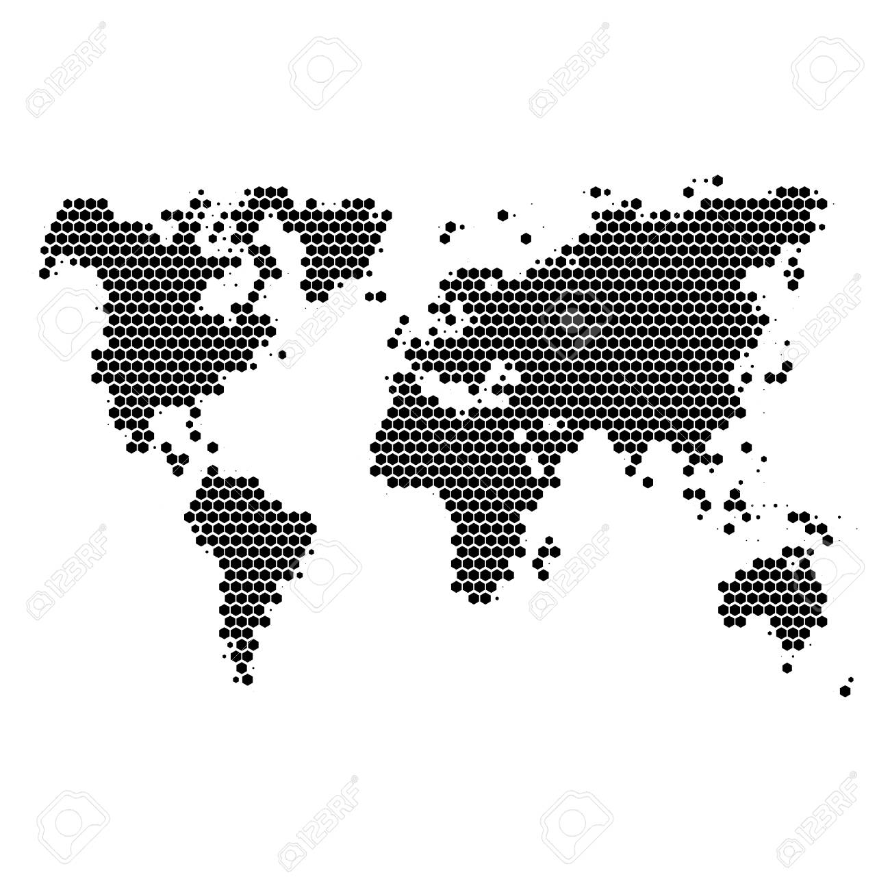 Monochrome halftone world map royalty free cliparts vectors and monochrome halftone world map stock vector 64270868 gumiabroncs Gallery