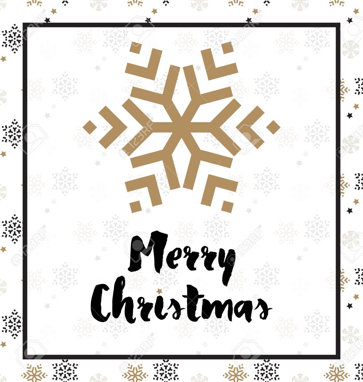 Design De Noël Idéal Pour Les étiquettes Cadeaux Ou Imprimer En Blanc Noir Et Or