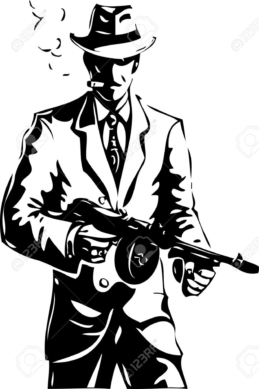 Image of: Sketch Drawing The Gangster Mafia Stock Vector 13356956 123rfcom Drawing The Gangster Mafia Royalty Free Cliparts Vectors And