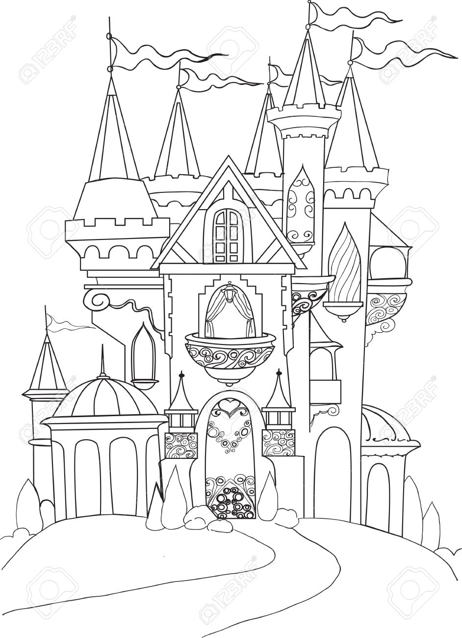 color book palace fairy tale royalty free cliparts vectors and