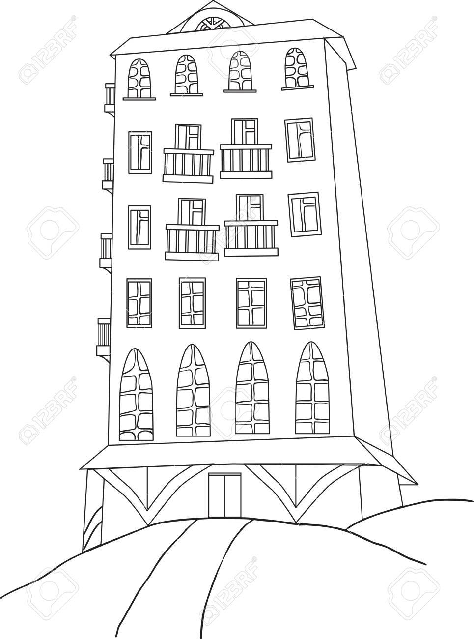 City Skyscraper Color Book Royalty Free Cliparts, Vectors, And Stock ...