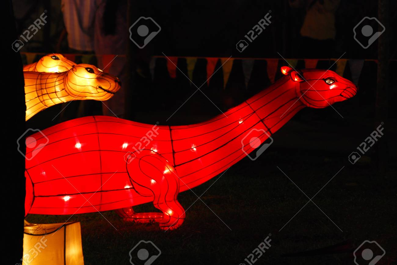 sea dragon lantern in the Chinese gardens Stock Photo - 1692502