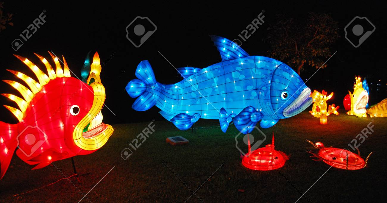 fish lantern in the Chinese gardens Stock Photo - 1685190