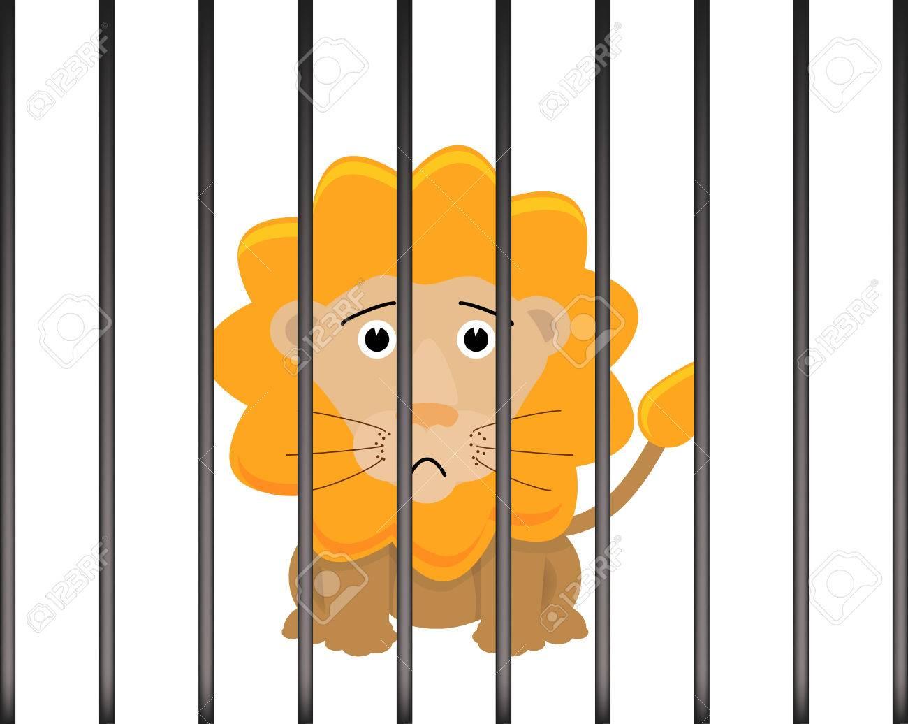 León En Una Jaula