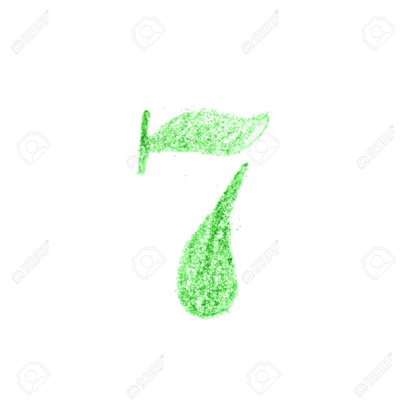 Number ,Hand Drawn By Color Pencil Fotos, Retratos, Imágenes Y ...