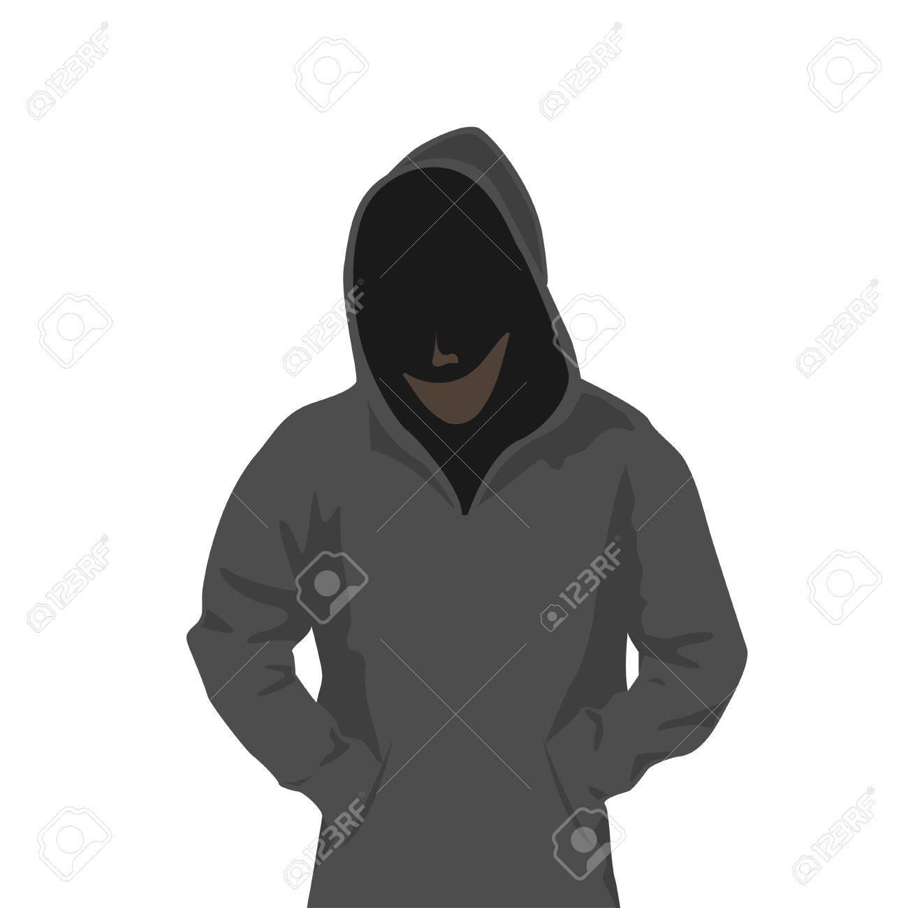 フードの男のイラスト素材 ベクタ Image
