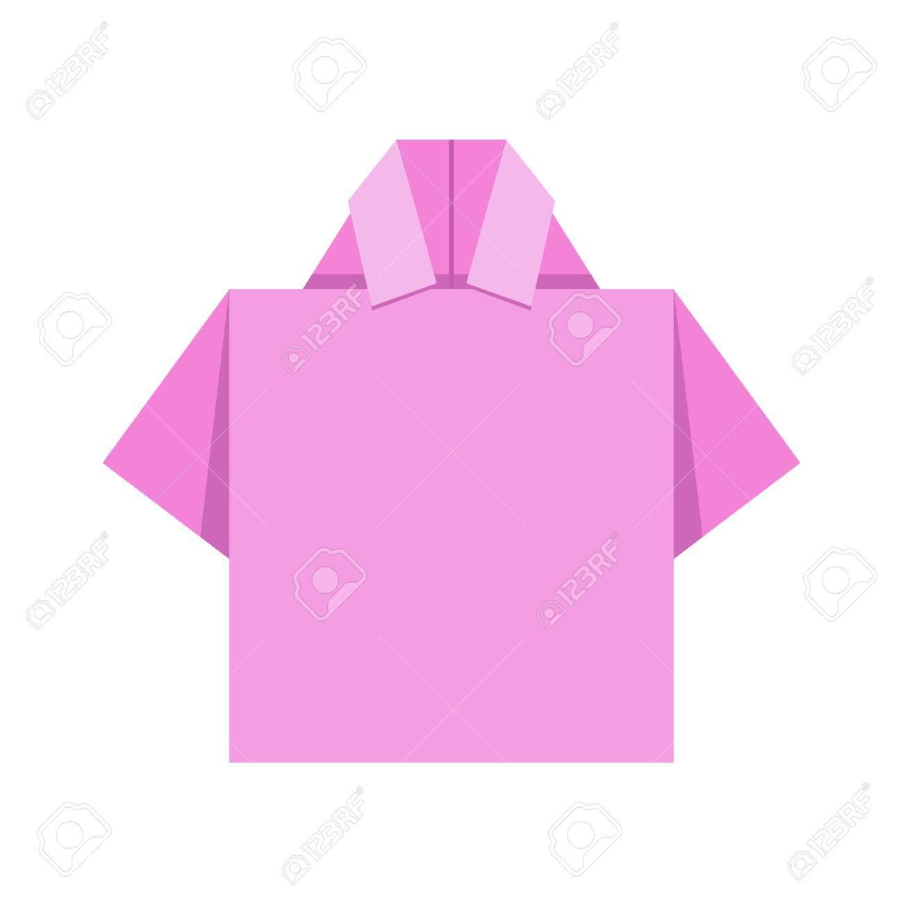 Shirt Origami Vector Design Royalty Free Cliparts Vectors And