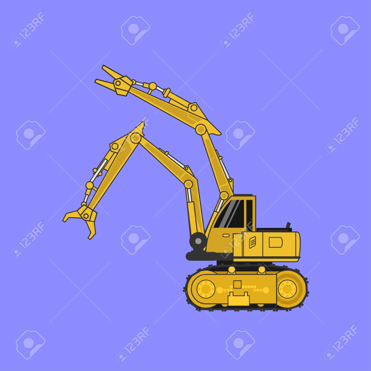 Construction car , Special machines for the Construction .vector - 105722460