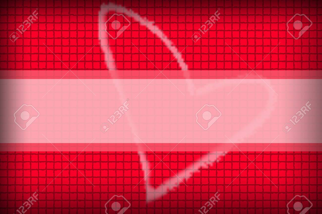 The Red background in a box style concatenating and Heart Picture - 22174781