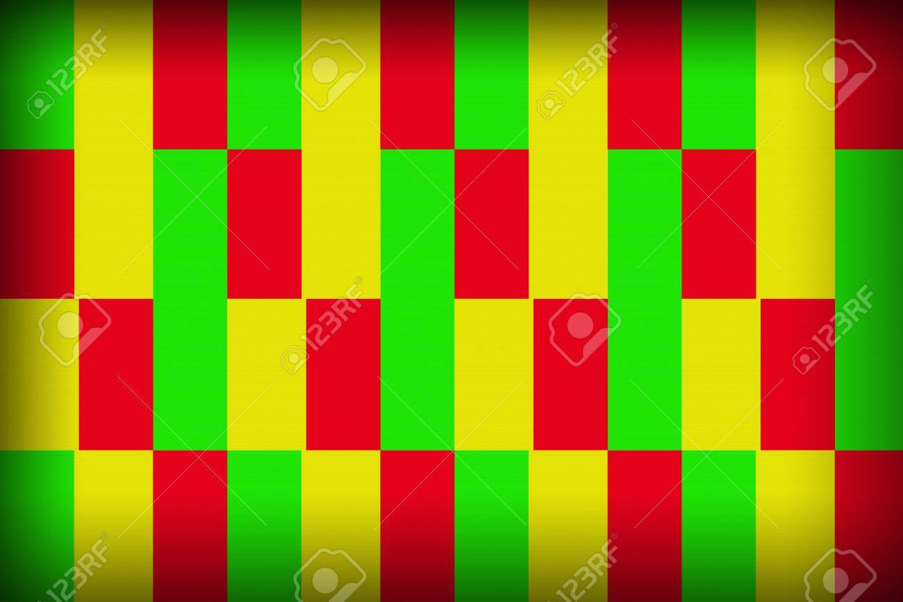 Immagini Stock Lo Sfondo Quadrato Di Colore Albero è Rosso Giallo