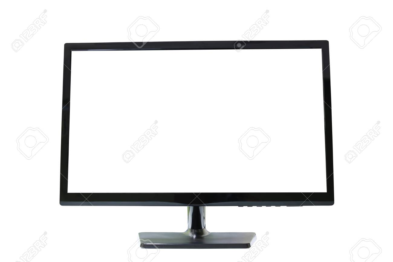 frame led computer screen monitor on white background and have