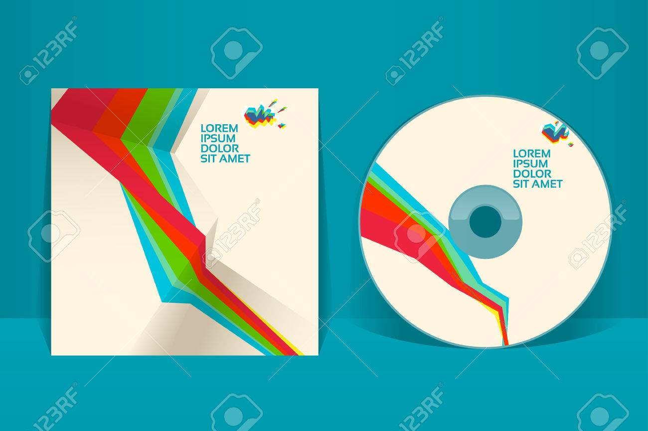 Vector cd cover design template free