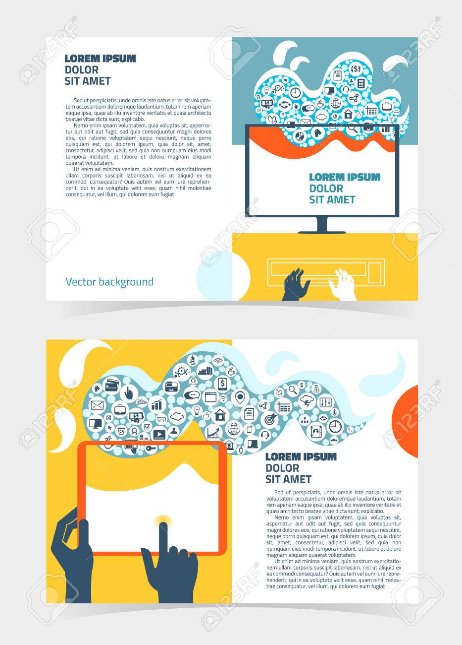 flyer leaflet booklet layout editable design template a5 two