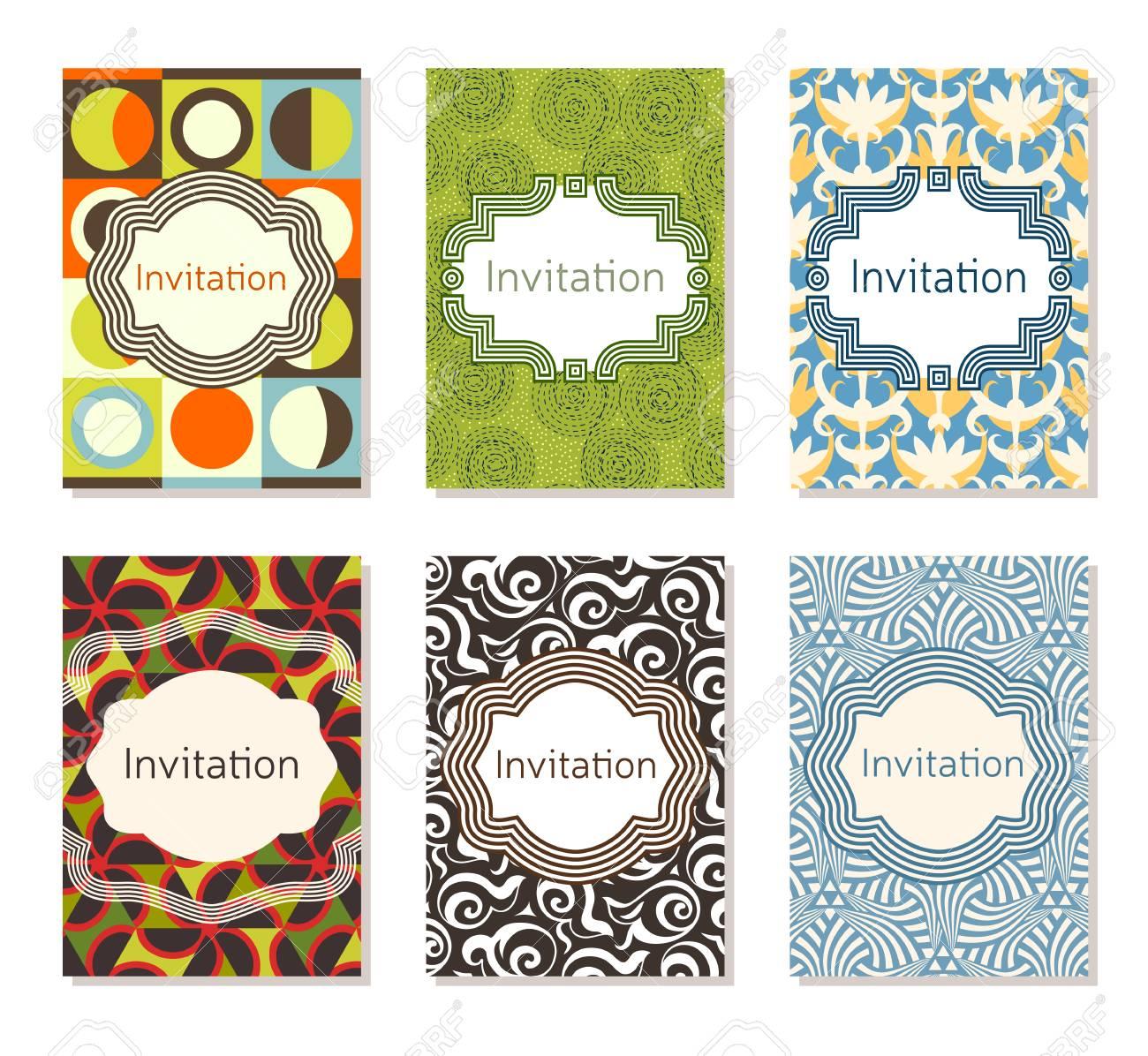 Conjunto De Plantillas De Diseño De Tarjetas De Invitación Diseño Editable Para Cumpleaños Invitación De Fiesta Boda Baby Shower Día De San