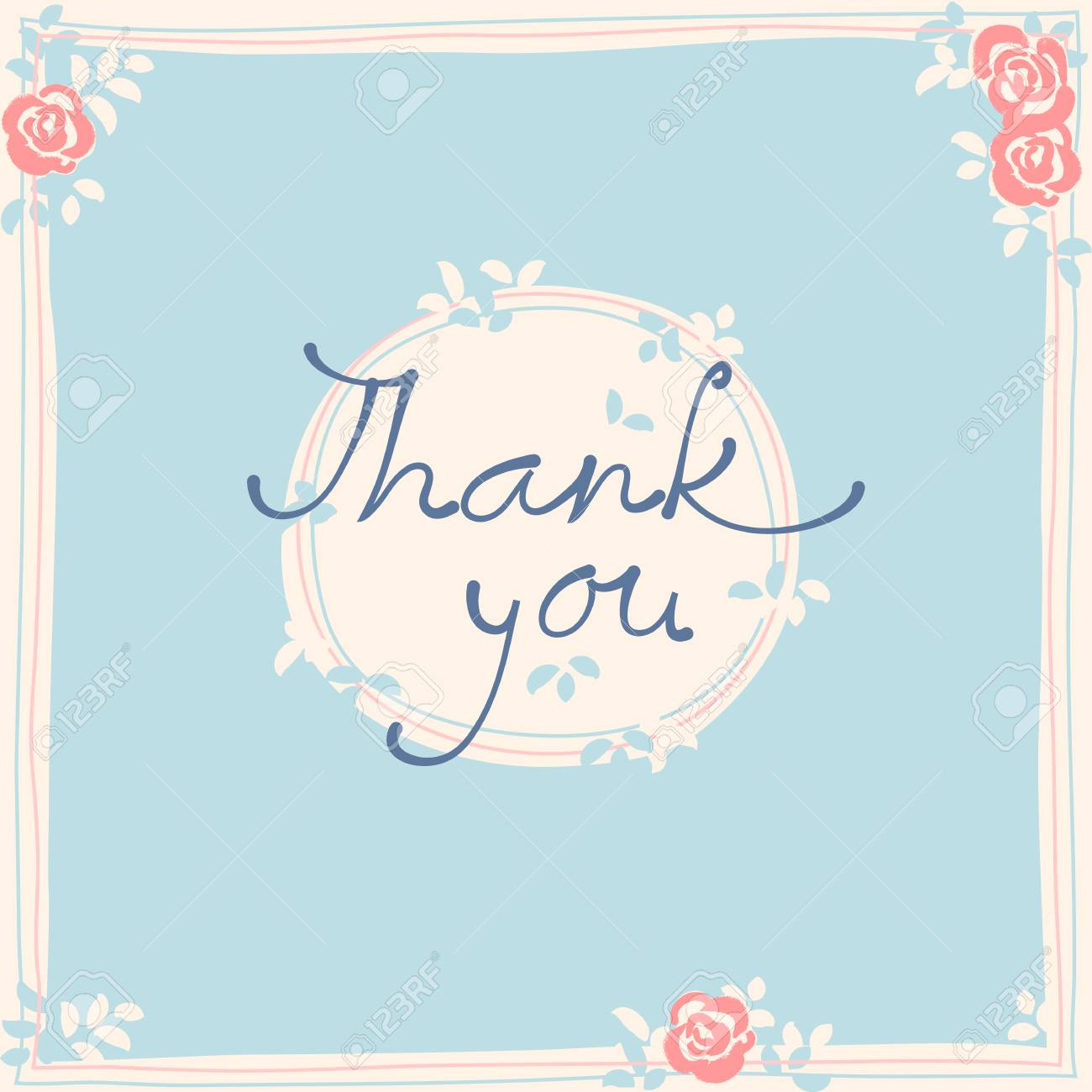 thank you card design template simple greeting card elegant
