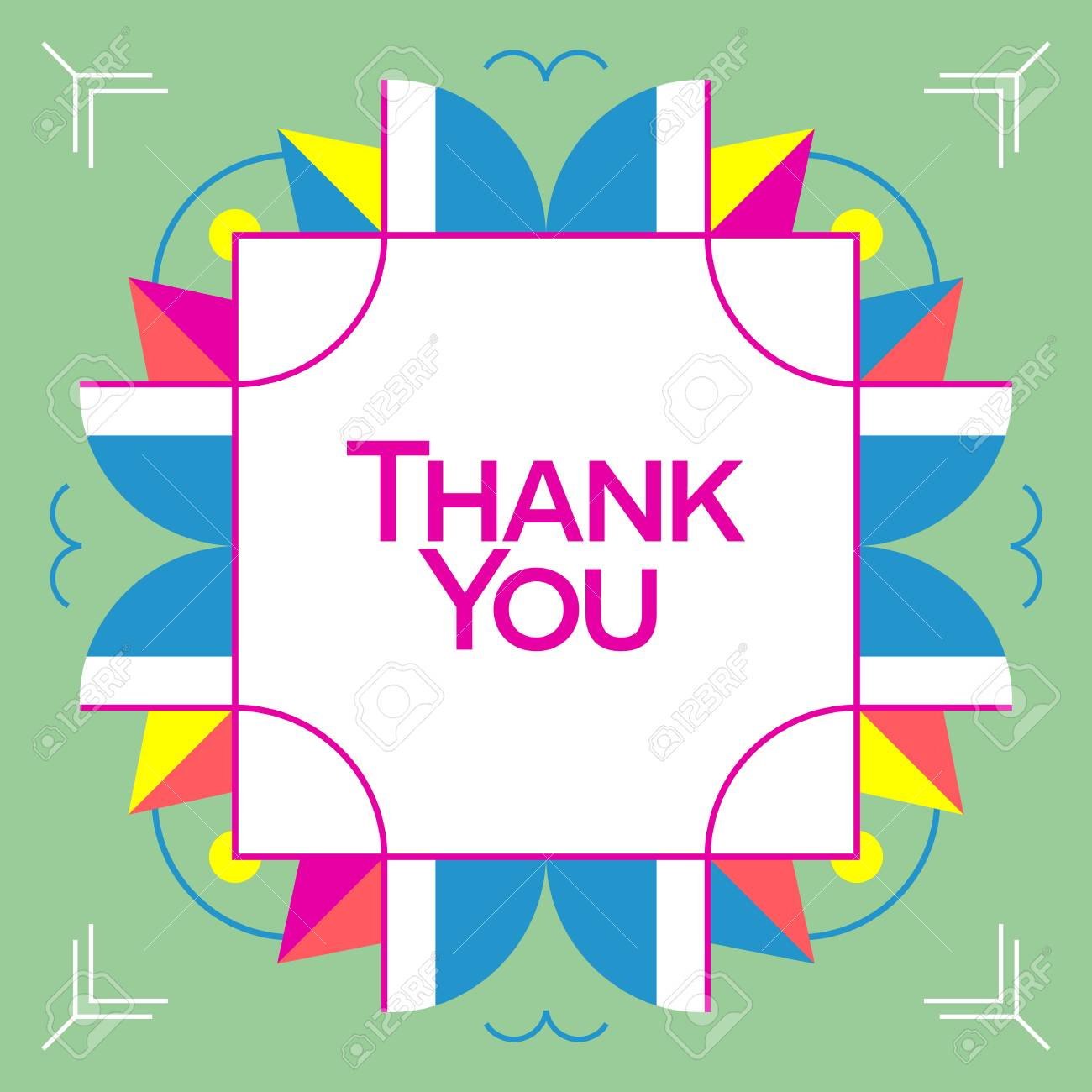 Thank you greeting card thanksgiving design abstract geometric thank you greeting card thanksgiving design abstract geometric elements layout template card invitation kristyandbryce Choice Image